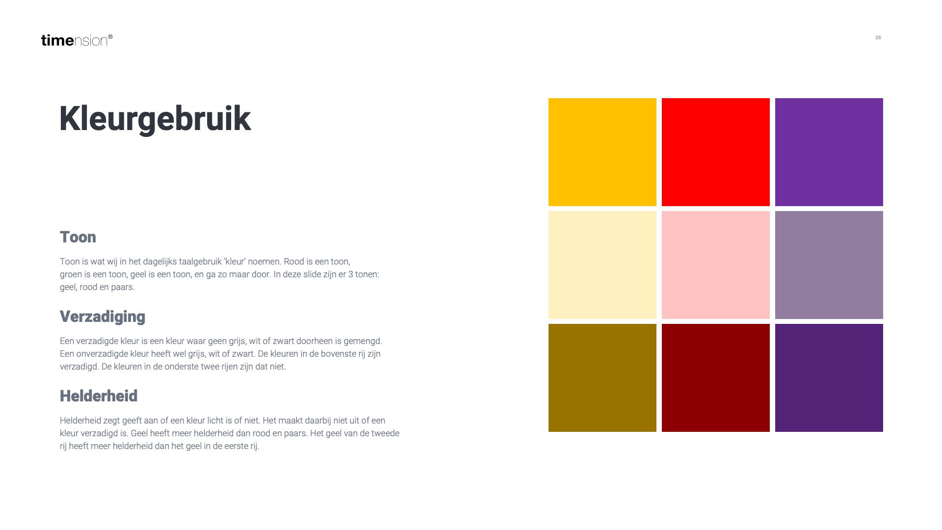 Kleurgebruyik in je digitale mindmap