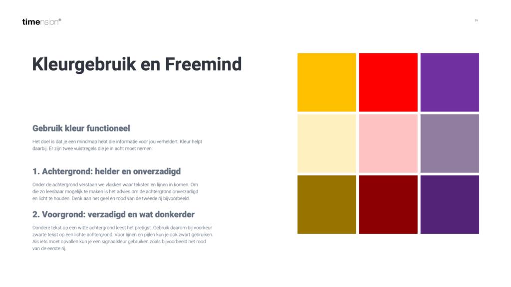 Keuzes maken in kleurgebruik in je digitale mindmap